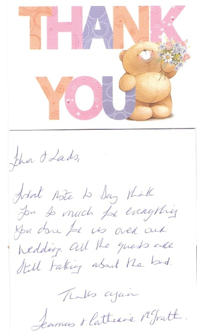 Scan thank you card
